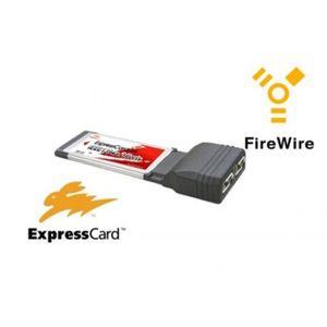CARTE CONTROLEUR ExpressCard pour portable - 2x FireWire 400