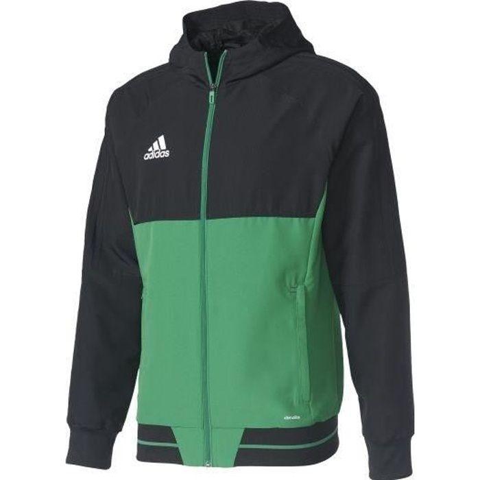 ADIDAS Tiro 17 Veste - Homme - Noir, vert et blanc