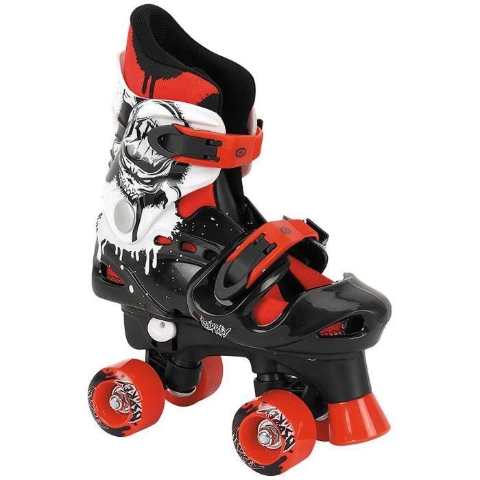 OSPREY Patins à roulettes Quad - Enfant - Noir, blanc et rouge