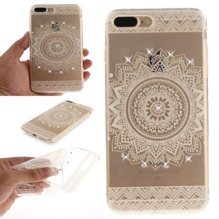 coque iphone 7 plus mandala blanc