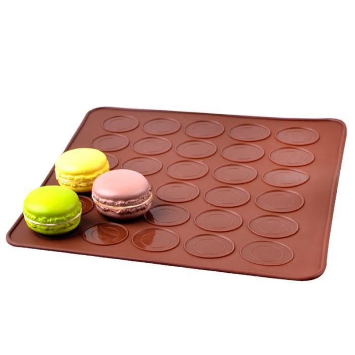 tapis de cuisson en silicone plaques pour macarons constitu de 30 cuvettes pour p tisserie. Black Bedroom Furniture Sets. Home Design Ideas