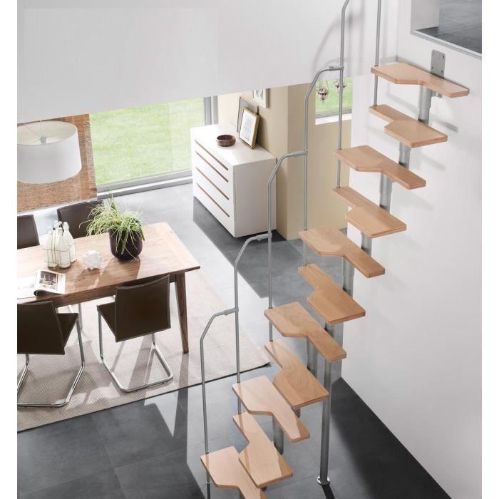 superbe escalier design gain de place special petits espaces reduits modulable modulaire hetre. Black Bedroom Furniture Sets. Home Design Ideas