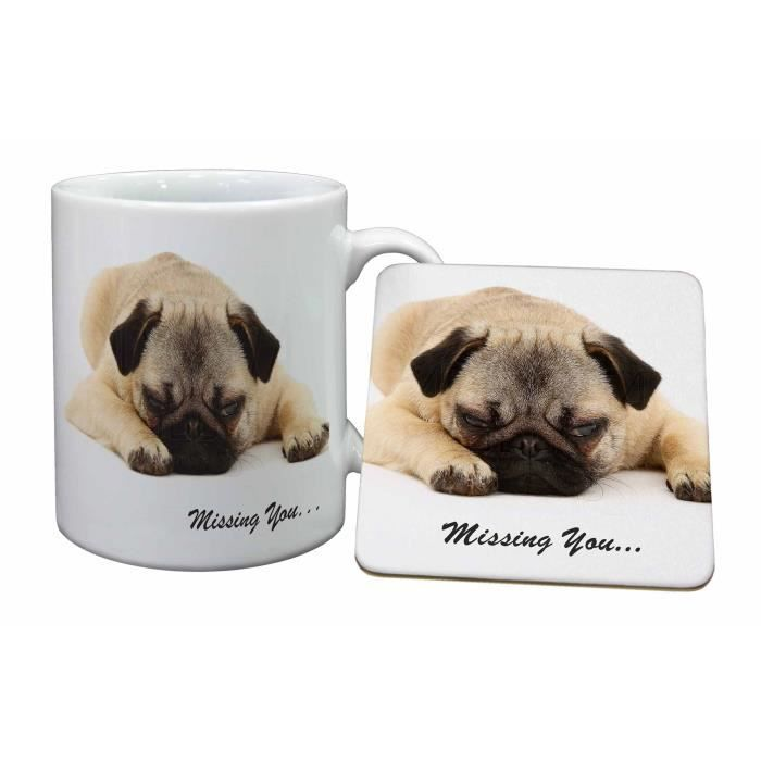 Et Dog Animaux Russes Pug You' De Cadeau 'missing Tasse Sentiment I7gyf6mYvb