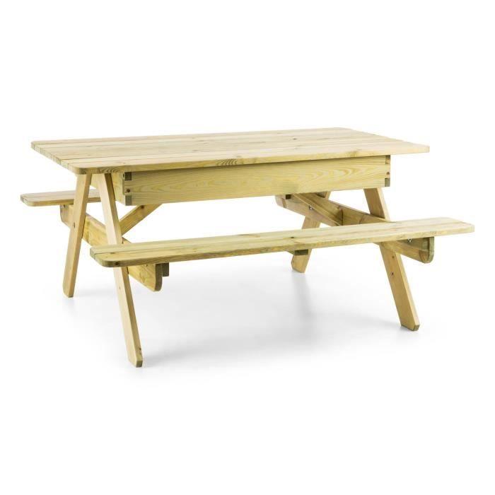 Blumfeldt Table De Jeux Ou Pique Nique Pour Enfants Avec Banc