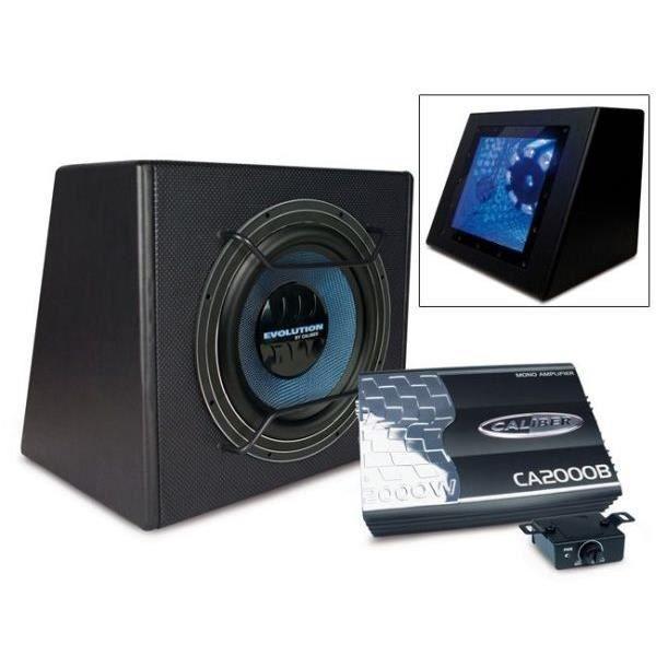 caisson amplifie caliber pack10e achat vente subwoofer voiture caisson et un subwoofer de. Black Bedroom Furniture Sets. Home Design Ideas