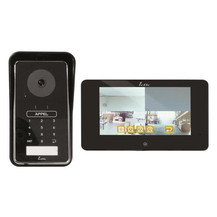 idk interphone vidéo sans fil couleur 7 pouces pvco-2000 - achat