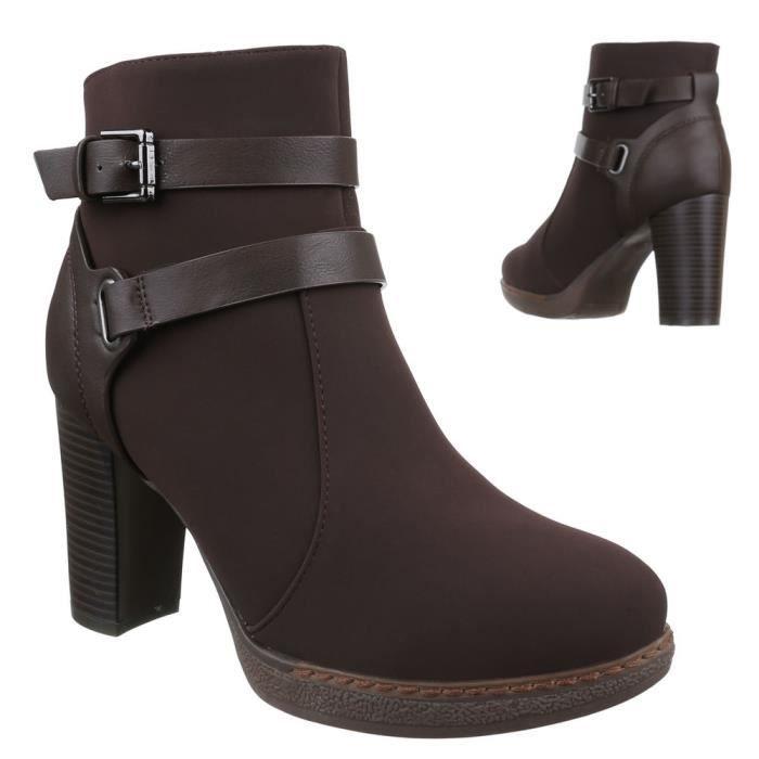 Femme bottillonn chaussure bottes boucle déc