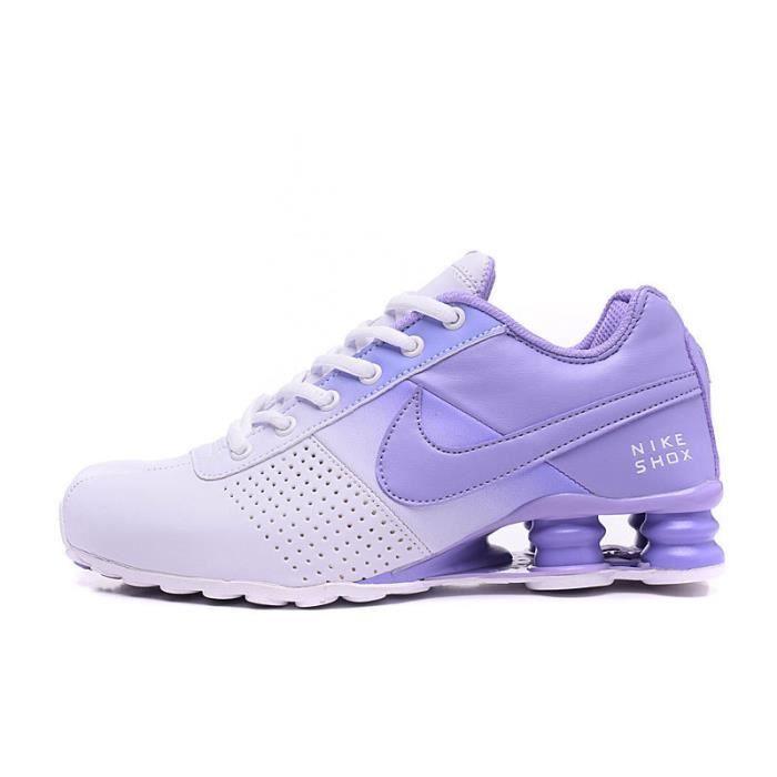 separation shoes 15ac5 1e650 Femme Nike Shox Deliver Baskets Chaussures De Sport Blanc Bleu
