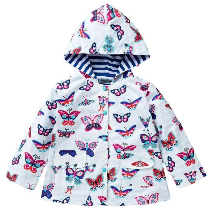 997fcb9b7 Filles Manteau Imperméable Infant Raincoat Jacket Parapluie à ...