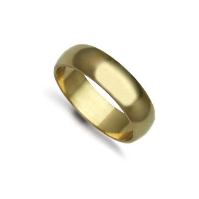 Jewelco Londres anneau de mariage d-forme 18K 6mm en or jaune à la main