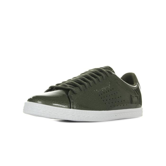 19fa1778138a Baskets Le Coq Sportif Charline Coated S Leather Vert Vert olive ...