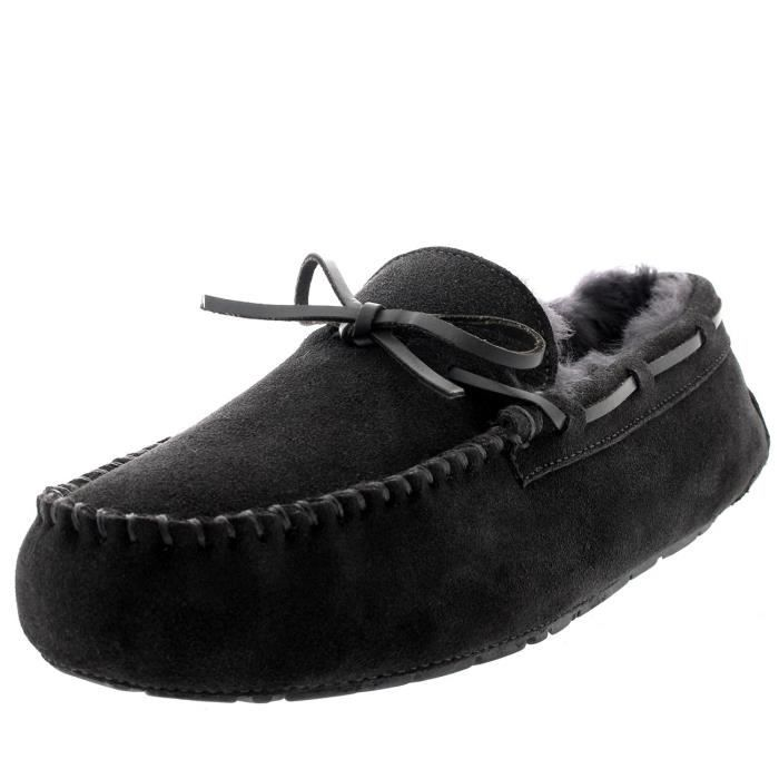 Mens Real Loafer Winter Moccasin Slippers T6GZM Taille-44 1-2 naC4P4wJ