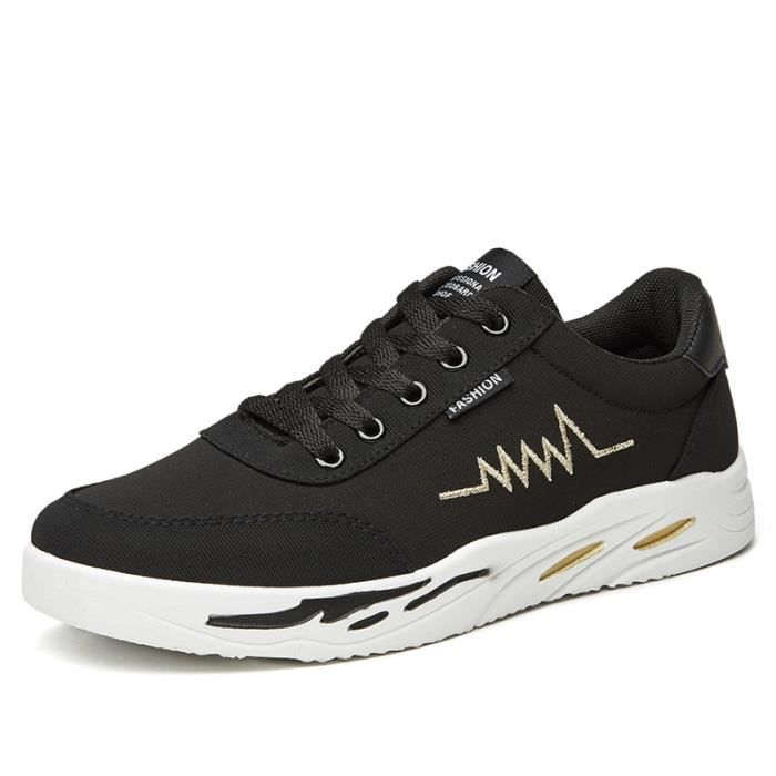 Chaussures Noir Toile jaune Chaussures décontractées respirantes en zUq0w6