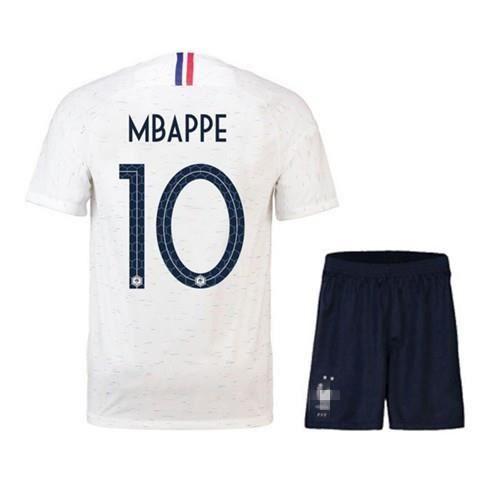 a57cd2bea2374 MBAPPE Maillot Equipe de france 2 étoiles - Maillot et Shorts de football -  Enfant Blanc