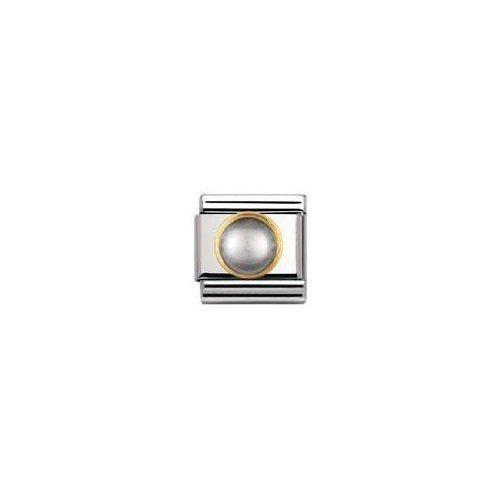 Nomination 030503 - Maillon Pour Bracelet Composable - Femme - Acier Inoxydable Et Or Jaune 18 Cts S7QVZ