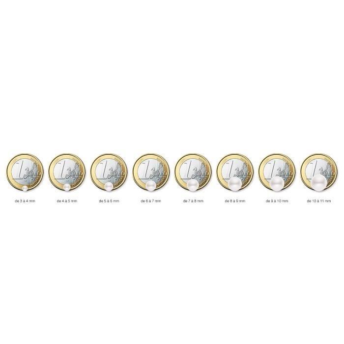Collier Torque - Or Blanc 9 Cts - Perle Deau Douce - 42 Cm - Am-9cc 116 R9b-bl Z8P0R