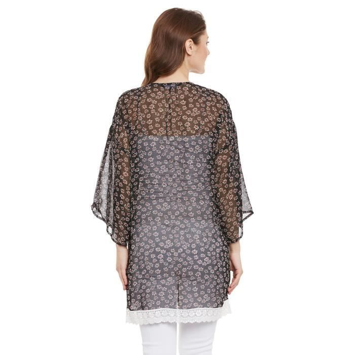 Womens Floral Full Sleeve Poly Georgette Regular Fit Shrug FVQY0 Taille-38