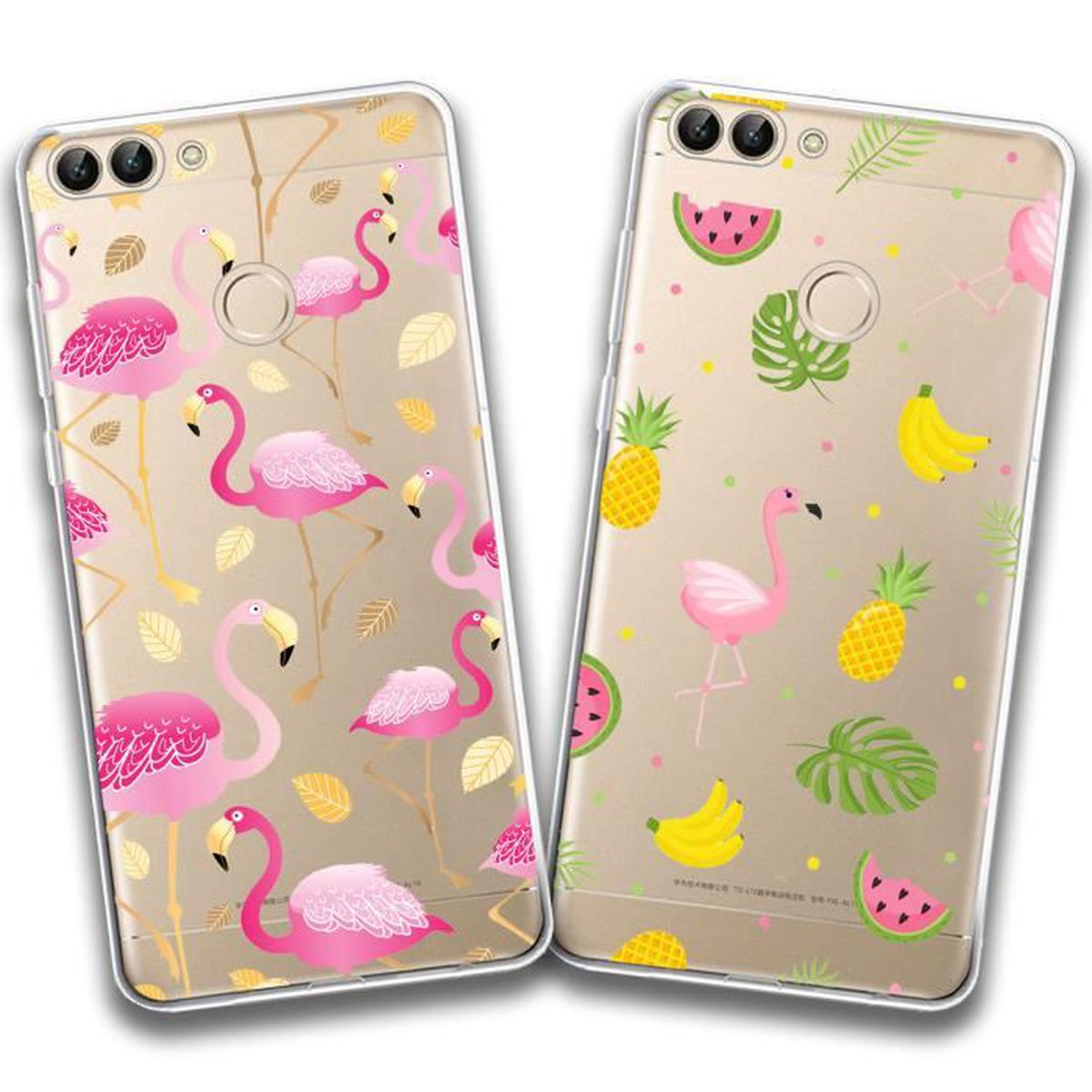 coque huawei p30 flamant rose