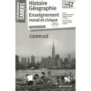 MANUEL BAC PRO BEP CAP Histoire Géographie Enseignement moral et civique