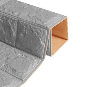 Papier Peint Vinyle 3d Effet Brique Cuisine Revêtement Mural Blanc