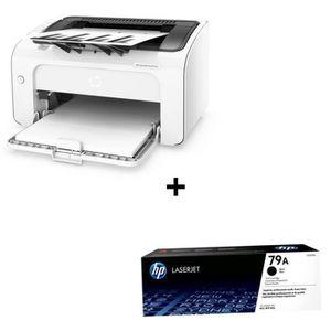 IMPRIMANTE Pack HP Imprimante LaserJet Pro M12w monochrome +