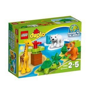 ASSEMBLAGE CONSTRUCTION LEGO® DUPLO® Ville 10801 Les Bébés Animaux du Mond