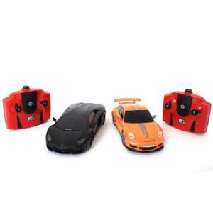 VOITURE À CONSTRUIRE Lot de 2 voitures télécommandés Porsche et Lamborg
