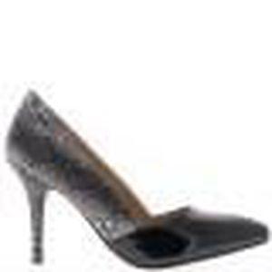Escarpins noirs bicolores pointus à talon fin de 9cm Noir Noir ... da953be7bdea