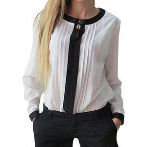 CHEMISIER - BLOUSE Blouse de printemps Femmes Haut Chemises Casual Bl