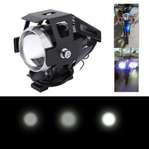 PHARES - OPTIQUES 2x125W 3000LM LED CREE U5 Moto phare antibrouillar