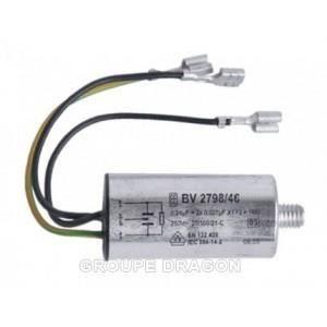 PIÈCE LAVAGE-SÉCHAGE  Condensateur antiparasite 2x0,027ufx1y pour lav…