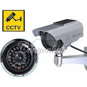 CAMÉRA FACTICE Solaire Caméra Factice Fausse CCTV Sécurité Survei