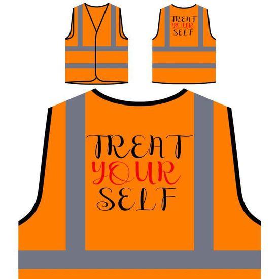 À traitez Personnal Veste Votre Orange Personnalisée Auto De Nouveauté Haute Visibilité Protection drôle SxTqawxf