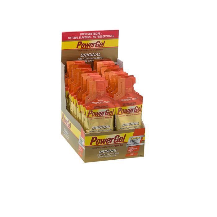 POWERBAR Lot de 24 gels - Fruits tropicaux - 41 g