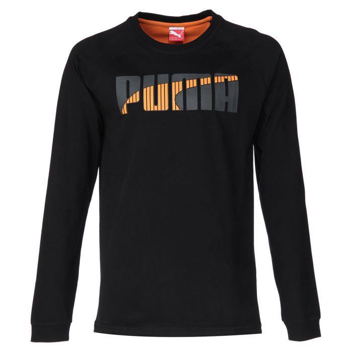 PUMA T-shirt SMU Manches longues - Homme - Noir