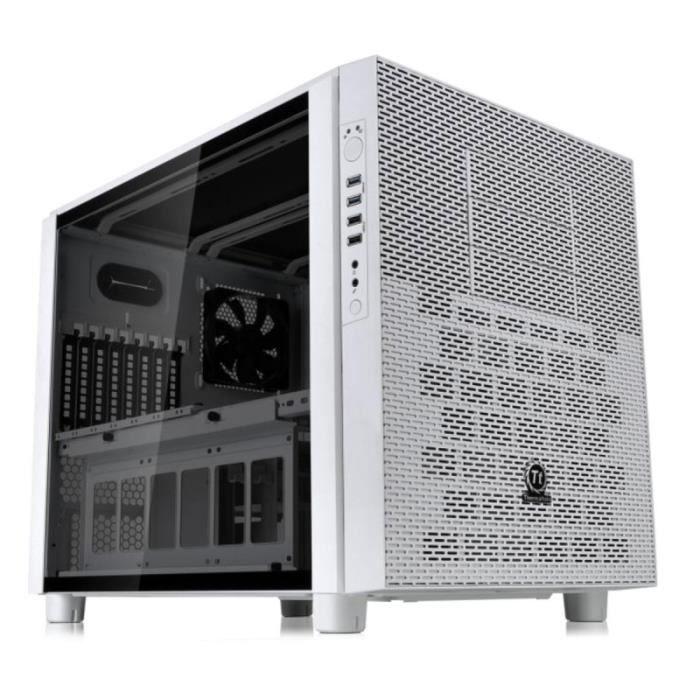 THERMALTAKE Boitier PC Sans Alimentation Core X5 TG Snow Edition - Moyen Tour - Modulaire - Fenêtre - Verre Trempé