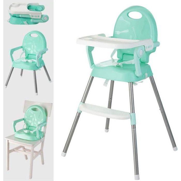 Ecent Chaise Haute Enfant Ultra Pliable Reglable Hauteur Compacte Et Multipositions Pour Bebe Vert Clair