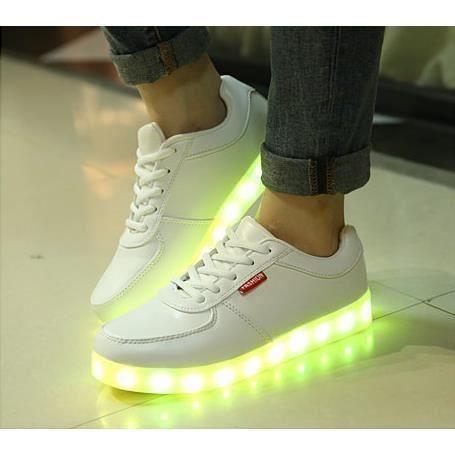 8 multicolore de recharge USB LED chaussures l g res jusqu'Glow Sneakers
