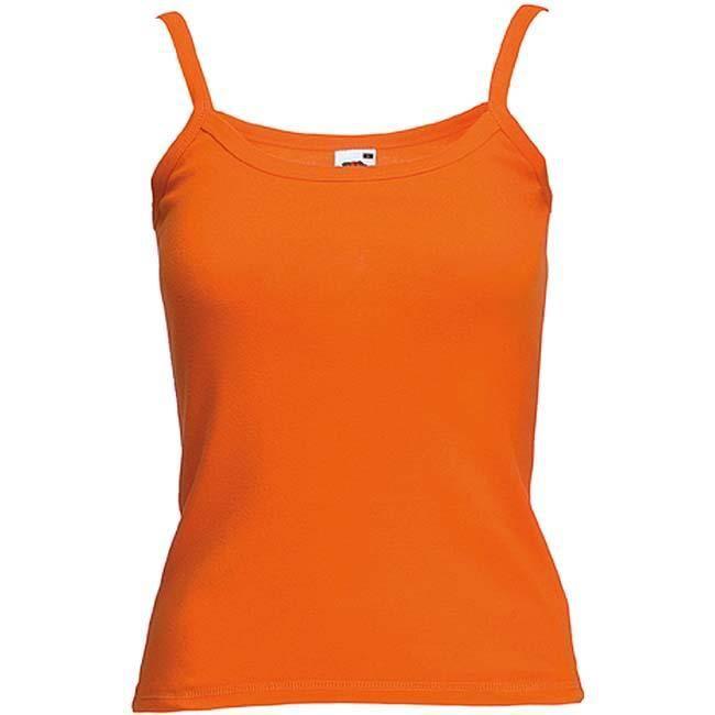 DÉBARDEUR pour Femme Couleur Orange. Fines