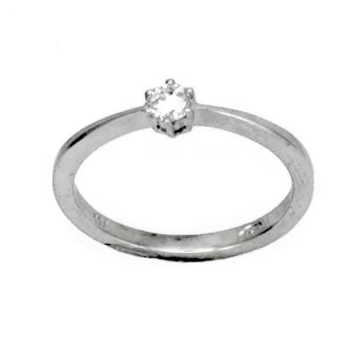 Solitaire Diamant Or:2.20 Gr Diamant:0.15 Ct