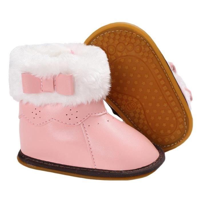 EOZY Chaussons Bébé Enfant Fille Garçon Boots et Velours Pantoufle Antidérapant kX1HaQjd5v