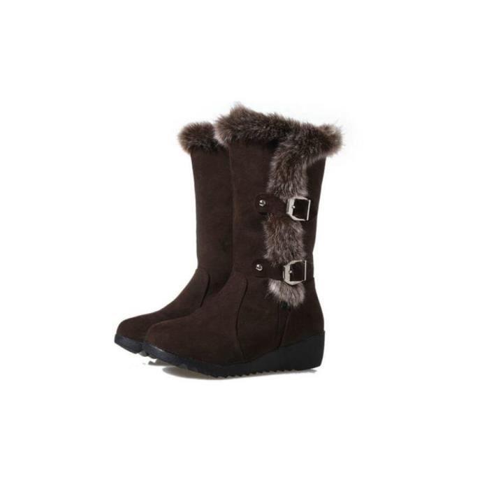 Botte Femme Plus De Cachemire Nouvelle Hiver Chaussure Doux peluche Garder au chaud Bottes Haut qualité Mode Taille 35-40 DUDVI89HO