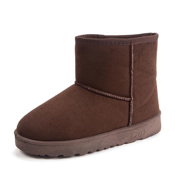 BOTTE coton chaussures Chaud personnalité Bottes de neig