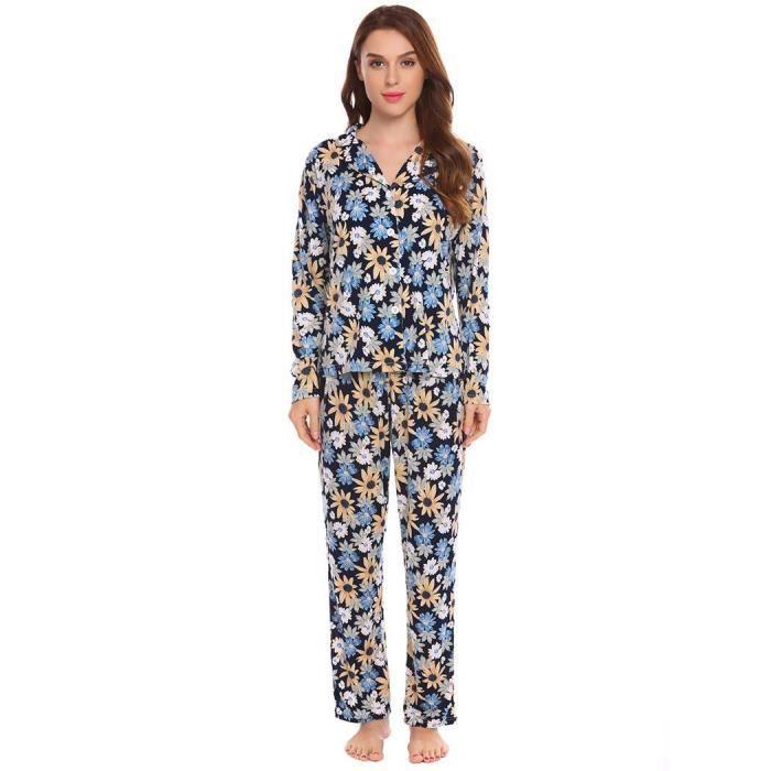 En Longues Manches Femmes Pyjama À vq7twY