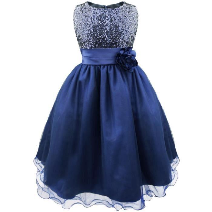 0c141ac0657 Enfant fille Robe de ceremonie à Paillette Tutu jupe Robe Princesse ...