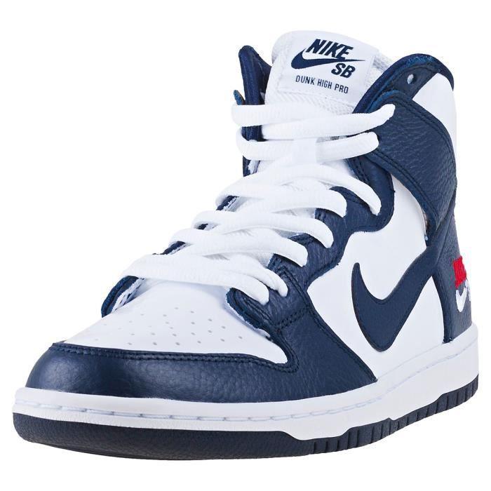 size 40 cdae6 0c6d6 Nike SB Zoom Dunk Hi Pro Future Court Homme Baskets Obsidienne Blanche