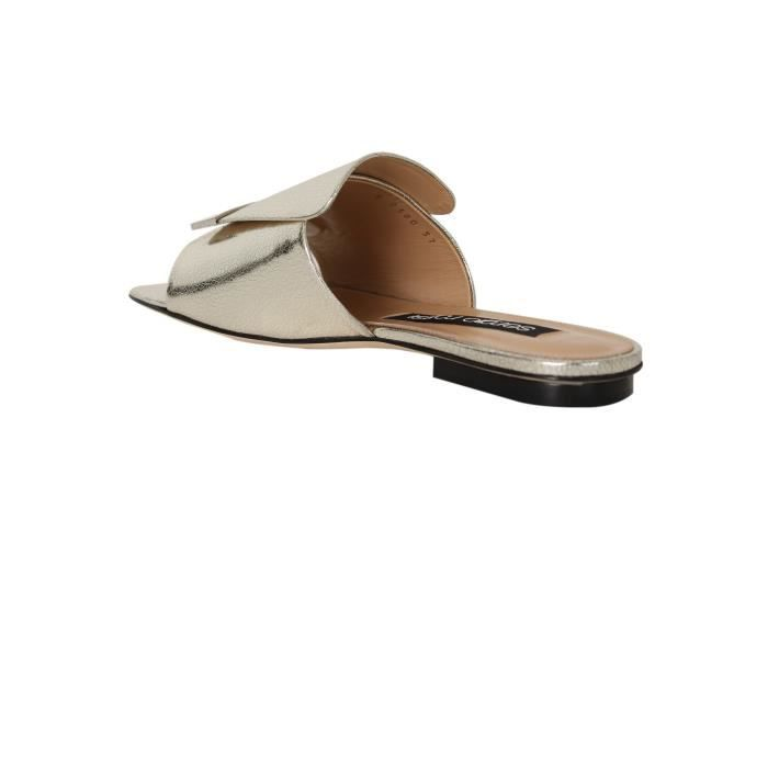 SERGIO ROSSI FEMME A80380MCAL068102 ARGENT CUIR SANDALES