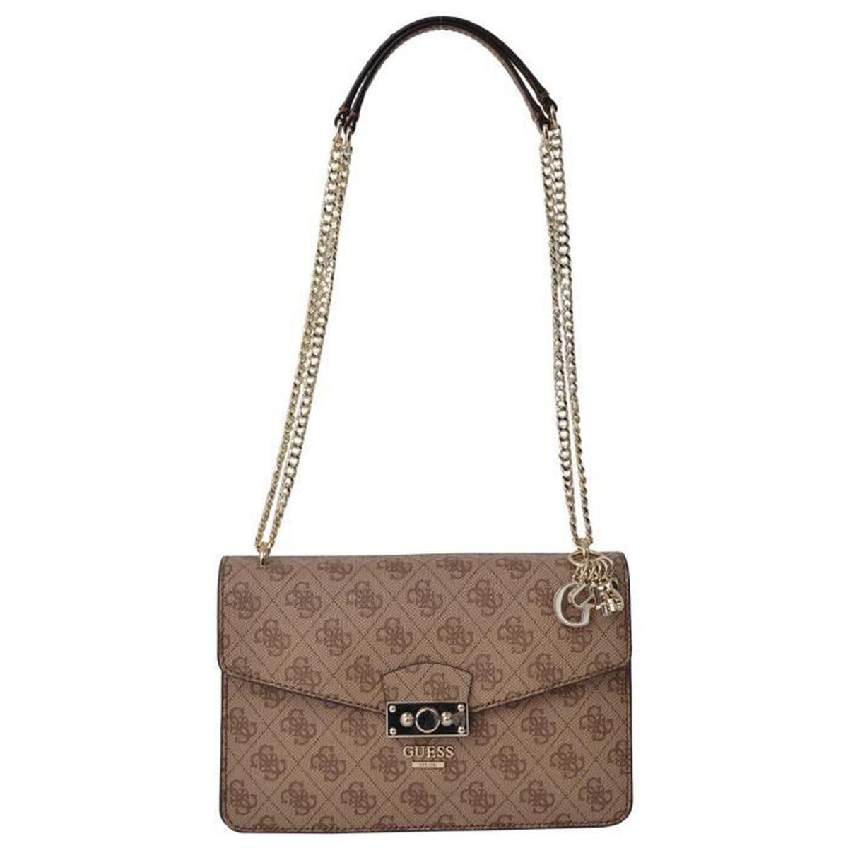 ee9a8c9760 Sac bandoulière Guess Arianna Marron brown - Achat / Vente besace ...