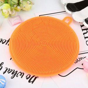 ÉPONGE VAISSELLE JZ 2pcs Orange Brosse à Vaisselle Épong En Silicon
