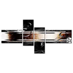 TABLEAU - TOILE Tableau Déco Abstrait Oriental - 130x65 cm